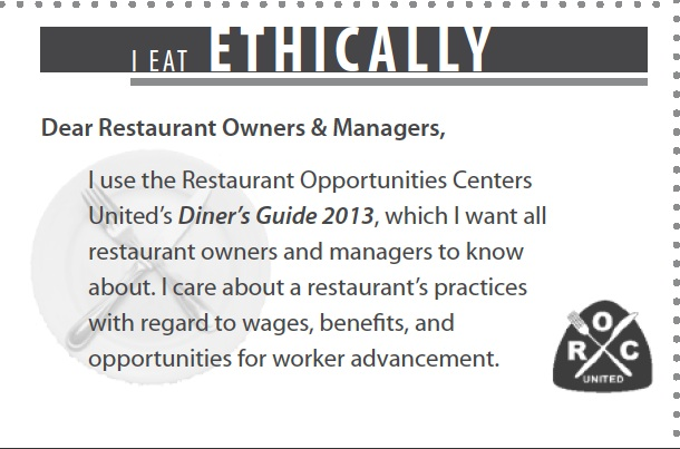ethical eating ROC