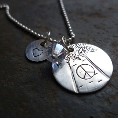 customizable silver necklace